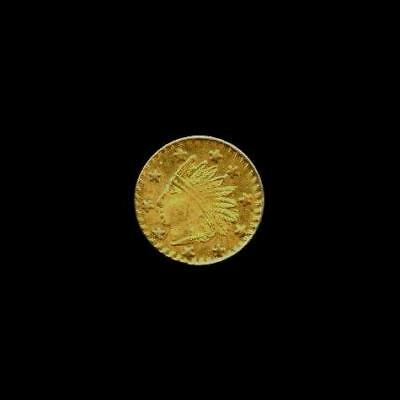 1853 Dated California GOLD Fractional Round Indian Head & Wreath Coin Token