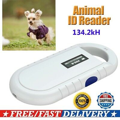 Mini RFID Reader 134.2Khz FDX-B ISO Animal Pet Microchip Recognition Scanner
