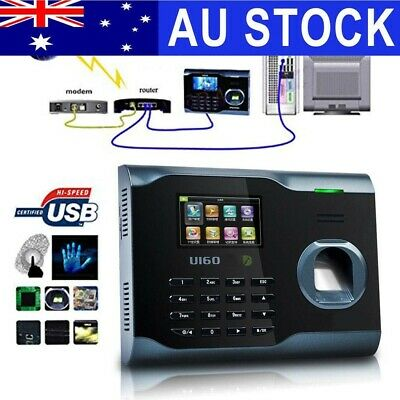 Zksoftware U160 Biometric Fingerprint Attendance Time Clock Recorder WIFI AU
