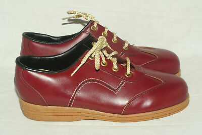 Buster Brown rust red sneakers youth 3 B narrow Made in USA NOS