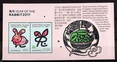 M0229sbs 2011 Christmas Island Year of Rabbit MUH Mini Sheet