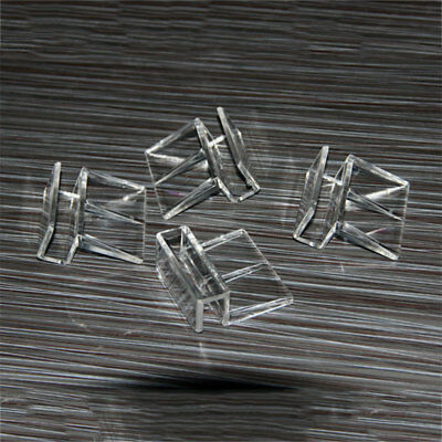 Aquarium Tank Glass Cover Transparent Acrylic Clips Clamp Support Holder 7334