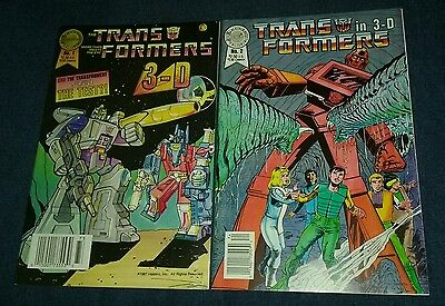 The Transformers in 3-D #1 & 2(Fall 1987, Blackthorne) scarce htf idw comics set