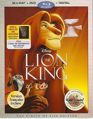 DISNEY THE LION KING BLURAY & DVD & DIGITAL SET-Disney Signature Collection
