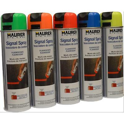 Maurer-Plus Tracciatori Spray Rosso Fluor. Maurer Plus 500Ml
