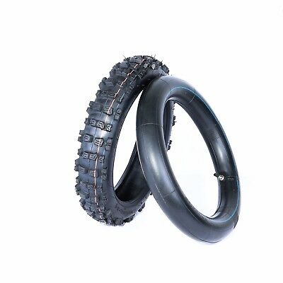 """KNOBBY TYRE + Tube 90/100- 14"""" INCH REAR BACK PIT DIRT TRAIL BIGFOOT BIKES TIRE"""