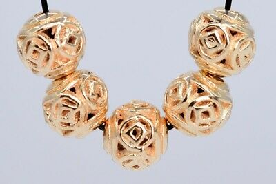 10 Pcs 8MM Rose Gold Tone Ancient Chinese Coin Round Spacer Beads