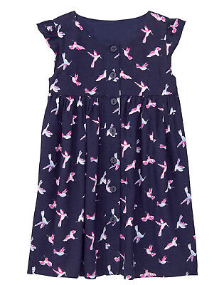 NWT Gymboree Bright Days Ahead Bird Hummingbird Print Dress Baby Toddler Girl