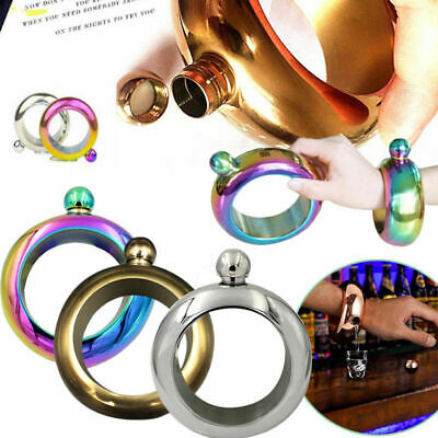 3.5oz Creative Hidden Booze Smuggle Bracelet Wine Pot Bangle Flask Jewellery