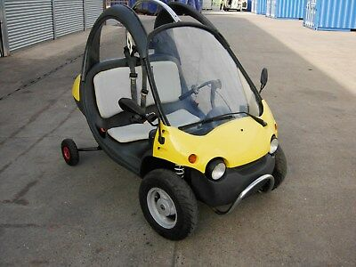 2000 QPOD FUNTECH 50cc BUBBLE CAR MICRO CAR in YELLOW