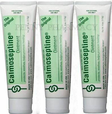 Calmoseptine Ointment Tube 4oz / 113gm each ( 3 pack ) FRESH PHARMACY STOCK!