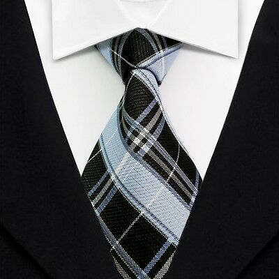 New Classic Striped Ties Black JACQUARD WOVEN Silk Suits Men's Tie Necktie LT112