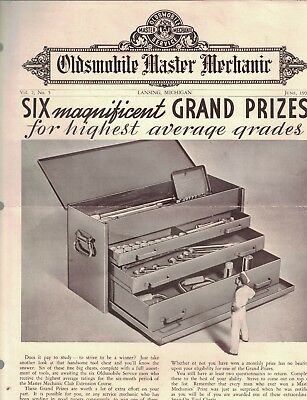 Oldsmobile Master Mechanic June 1937 Brochure Cars Automobiles