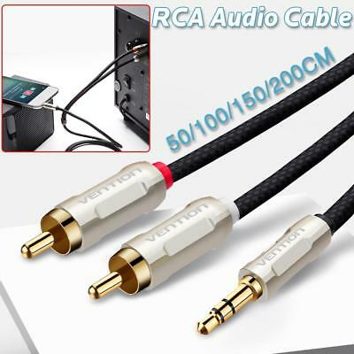 VENTION 3.5mm Stero Male Plug to Dual 2RCA Jack Cable Stereo PC Audio Splitter