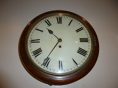 A  Fine Fussee Wall Clock In Mahogany With A 12 Inch Dial