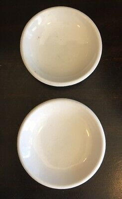 Antique White Ironstone Butter Pats Lot Of 2 Farmhouse style