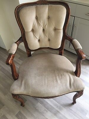 French Louis Style Shabby Chic Beige bedroom chair vintage