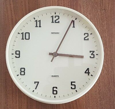 Vintage Metamec Wall Clock ~ cream ~
