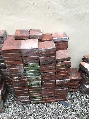 7x7x2 red antique quarry tiles from 1860s