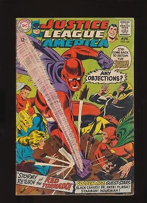 JUSTICE LEAGUE OF AMERICA #64 DC Comics 1968! 1st App Red Tornado! SEE PICS!