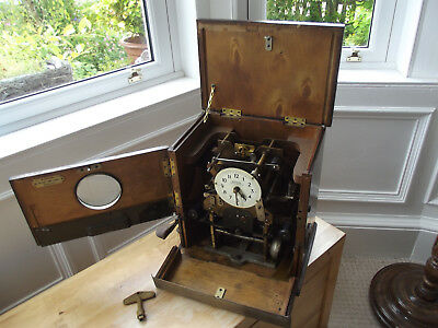 Antique National Time Recorder Co. Clock, Clocking In Machine with Key & 4 Cards