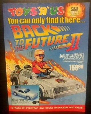 Toys R Us 1989 Sales Catalog DeLorean Car Nintendo Trump Game Michael Jordan