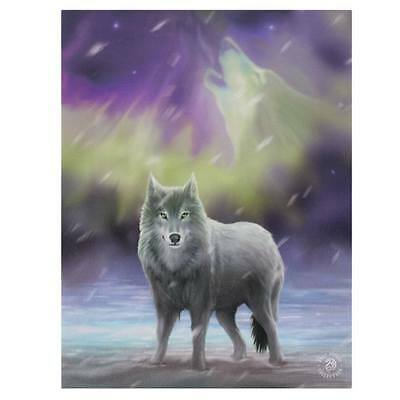 """Small """"Aurora"""" Wolf Canvas Art Picture Frame By Anne Stokes"""