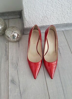🌸Pumps Highheels Gr.38 metallic rot🌸