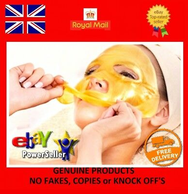 24k GOLD Collagen Mask Face Sheets Peel Bio Crystal Anti Wrinkle Aging Facial !