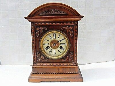 Antique H.A.C.14 Day Strike Mantel / Bracket Clock No7123