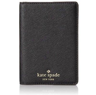 Kate Spade NY Cedar Street Saffiano Leather Passport Holder In Black