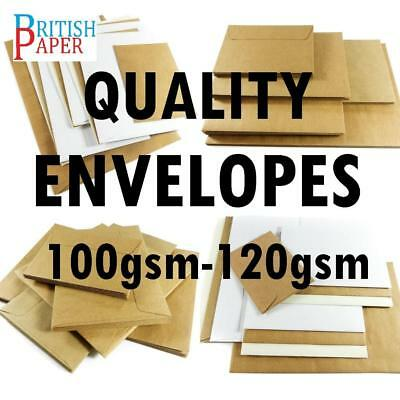C5 C6 Dl White Ivory Brown Kraft Craft Envelopes Paper Cards Small Large Mini A5
