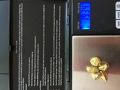 Lot of 5 Gold Nuggets from California. Weight 19.34 Grams.