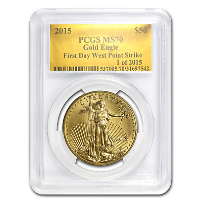 2015 1 oz Gold American Eagle MS-70 PCGS (FS, Gold Foil) - SKU #88255