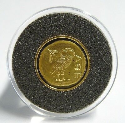 Münze 20 Francs 2003 Eule Olympische Sommerspiele Athen 2004 Gold 999 (10107)