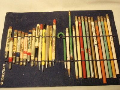 Lot of Vintage Advertising Wooden Pencils and Bullet Pencils *As-Is*