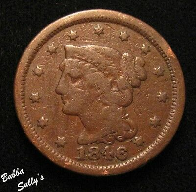 1846 Braided Hair Large Cent <> N-4 R1 RPD <> VERY GOOD