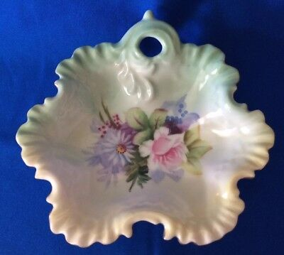 Vintage Lefton Hand-Painted China Bowl Dish With Gold Rim #4670