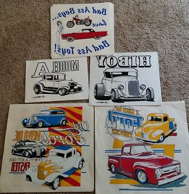 Lot of 22 Vintage Ford Iron-On Heat Transfers,T-shirt,80's,Car,Truck,Street Rod