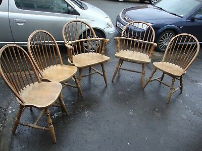 Set Of 5 Vintage Antique Logatec Yugoslavian Made Wooden Chairs 1889 1904 Vep6