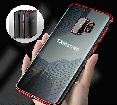 Luxury Slim Shockproof Silicone Clear Case Cover for Samsung Galaxy S8 S9 S10