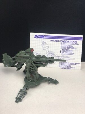 Vintage GI Joe 1982 FLAK Cannon - With BluePrints - Missing some stickers #1