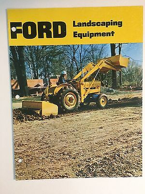 Ford 3000 3400 3500 4400 4500 Tractor Color Brochure MINT 12 pg '69 Landscaping