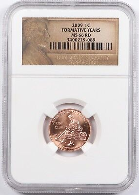 2009 Lincoln Bicentennial Formative Years Cent 1C NGC MS66 RD