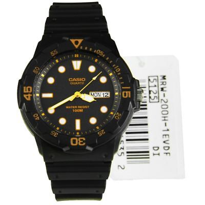 MRW-200H-1E MRW200H Casio Quartz Gents Analog Classic Sports Resin Band Watch