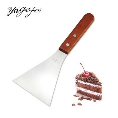 Pizza Shovel Cooking Spatula Pastry Cutter With Wooden Handle Bake Cutting Tool