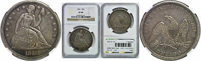1861 Seated Liberty Dollar NGC XF-40