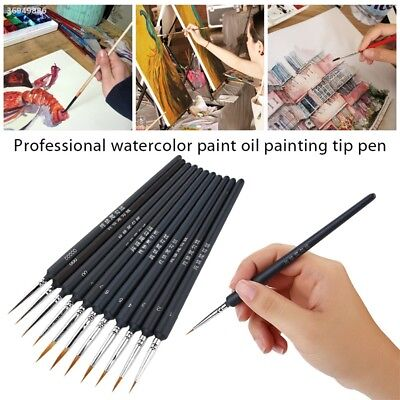 Scriptliner Painting Brush Portable Wolves Solid Wood Oil Painting 720C