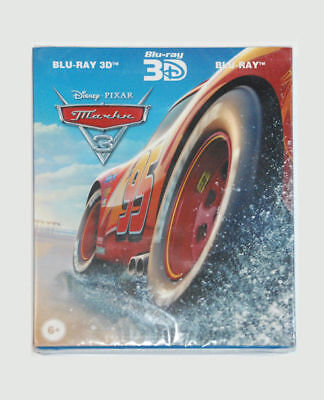 Cars 3 Blu-ray Real 3D+2D( 3 disk set) New, Region All+Additional materials