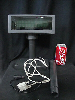 ICD LCD POLE DISPLAY ADJUSTABLE CASH REGISTER DISPLAY ICD-2002 -Untested, AS IS